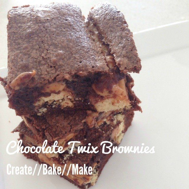 These Chocolate Twix Brownies were surprisingly easy to make, and you could probably add an extra Twix Bar if you really wanted to.
