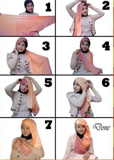 Cara Memakai Hijab Paris Terbaru