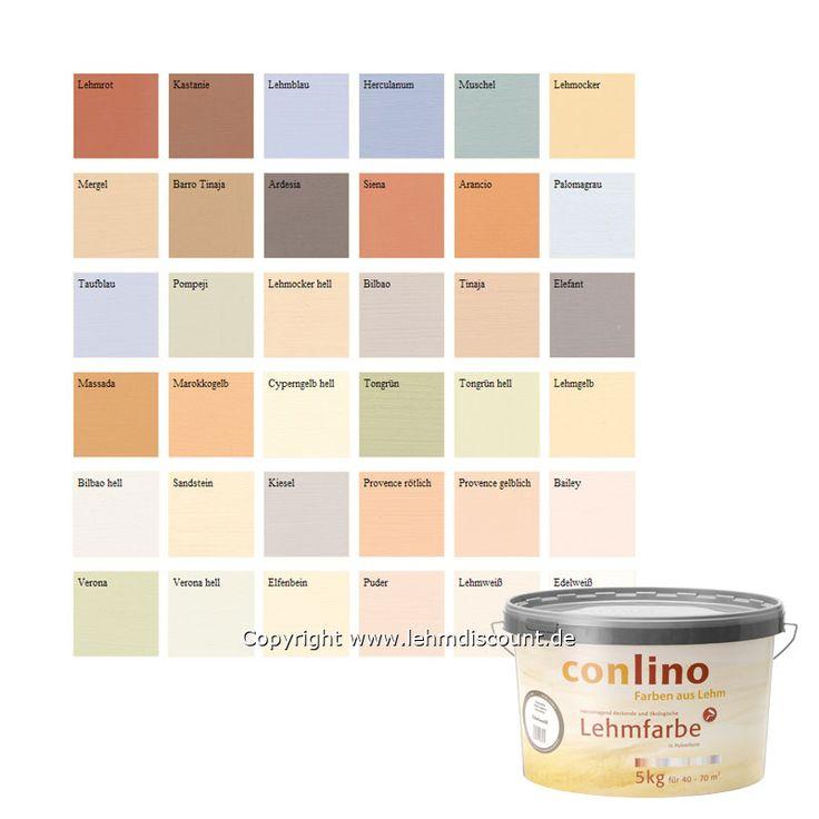 1.3 - Lehmfarbe : conluto, CONLINO Lehmfarbe, Eimer 5 kg