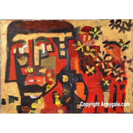 Chevalerie - Oeuvre Authentique - 900,00 €  #Art #Artiste