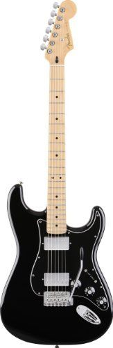 Fender Blacktop(TM) Stratocaster® HH Electric Guitar, Black, Maple Fretboard by Fender. $499.99. Drive your sound with raw humbucking power. Fender's new and innovative Blacktop™ guitar series expands the sonic horizon of classic Fender Stratocaster®, Telecaster®, Jazzmaster® and Jaguar® guitars by powering them with high-gain humbucking pickups. The Blacktop series delivers on modern player demands for a thick and heavy sound with guitars that drive a wide ar...