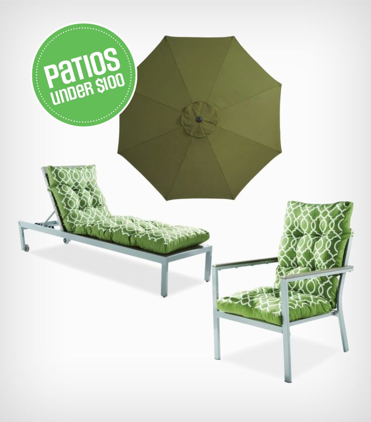 Stay in the shade with the help of this round umbrella on your patio
