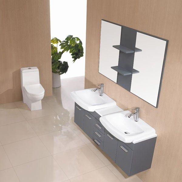 1000 images about meubles de salle de bain on pinterest for Meuble de salle de bain avec vasque et miroir