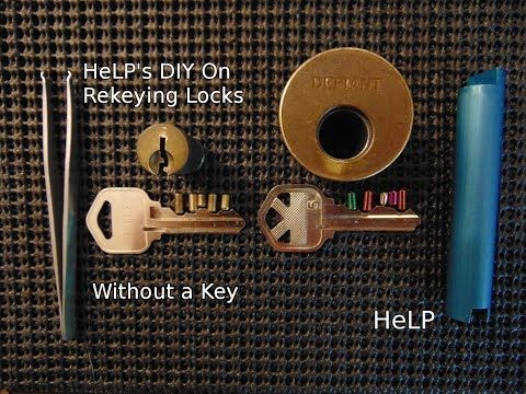44 Diy How To Easily Rekey Your Door Without A Key Youtube Lock Picking Lock Pick Set Diy