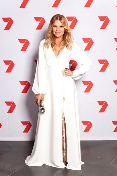 Sonia Kruger at the Logies wearing Claire Aristides Fine Jewels