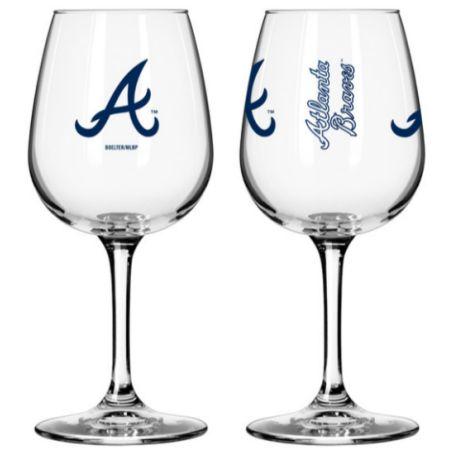 Atlanta Braves 12oz Mlb/braves Gmd Wine Gls 1pk Bxd