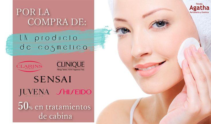 Por la compra de uno de los productos de cosmética de las marcas seleccionadas os hacemos un descuento del 50% en los tratamientos de cabina. En exclusiva en nuestro centro de belleza de Padul hasta el 15/06/2016.