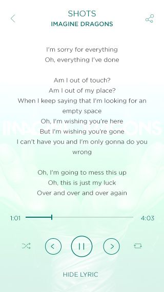 Music Player - Lyric #ui #apps #mobile #music #song #player