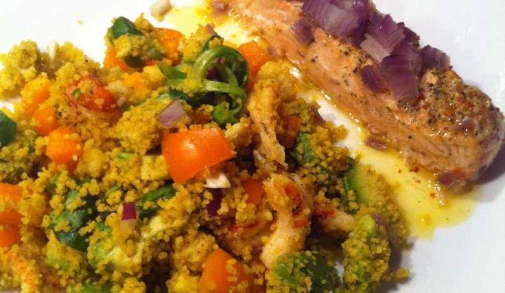 Couscous sallad med lax