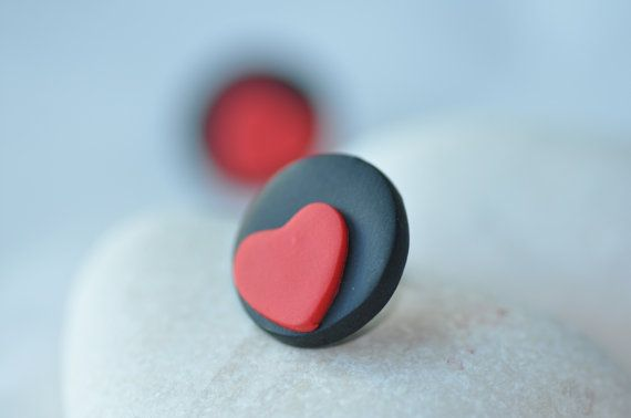 Valentine day Polymer Earrings Polymer jewelry by CraftStocks, $5.00