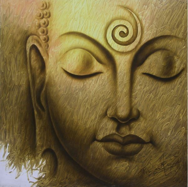 Prince Chand Original Hand-Painted Art Painting Online. Subject-Divine Light…