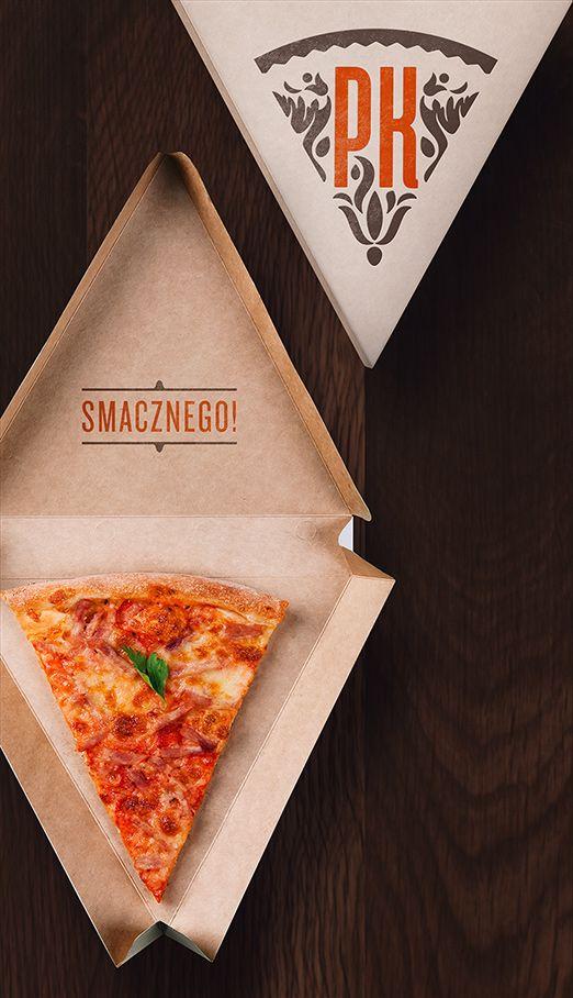 Een pizzapunt als tussendoortje neem je in deze verpakking gemakkelijk mee - Pizzeria Koscierska