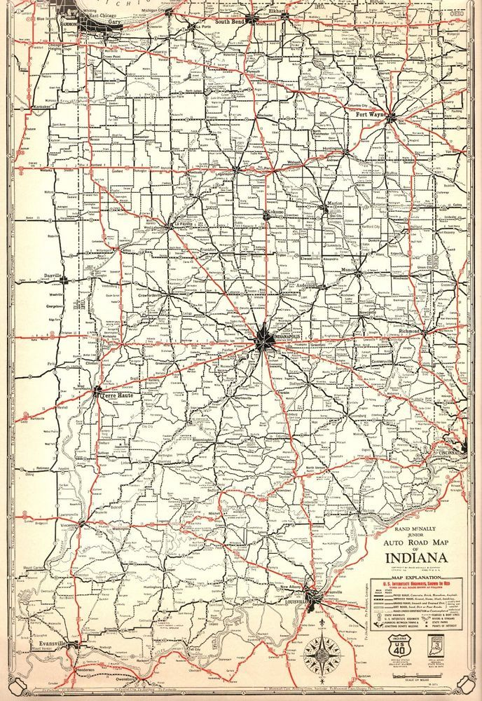 1932 Antique INDIANA Map of Indiana ROAD MAP Poster Print Rare Size on indiana shale map, indiana map with capital, indiana on usa map, indiana and map, indiana state map, indiana lakes, indiana st map, maryland state map of usa, map of se usa, indianapolis on map of usa, basic map of usa, show map of usa, historical map of usa, massachusetts map of usa, indiana state animal,