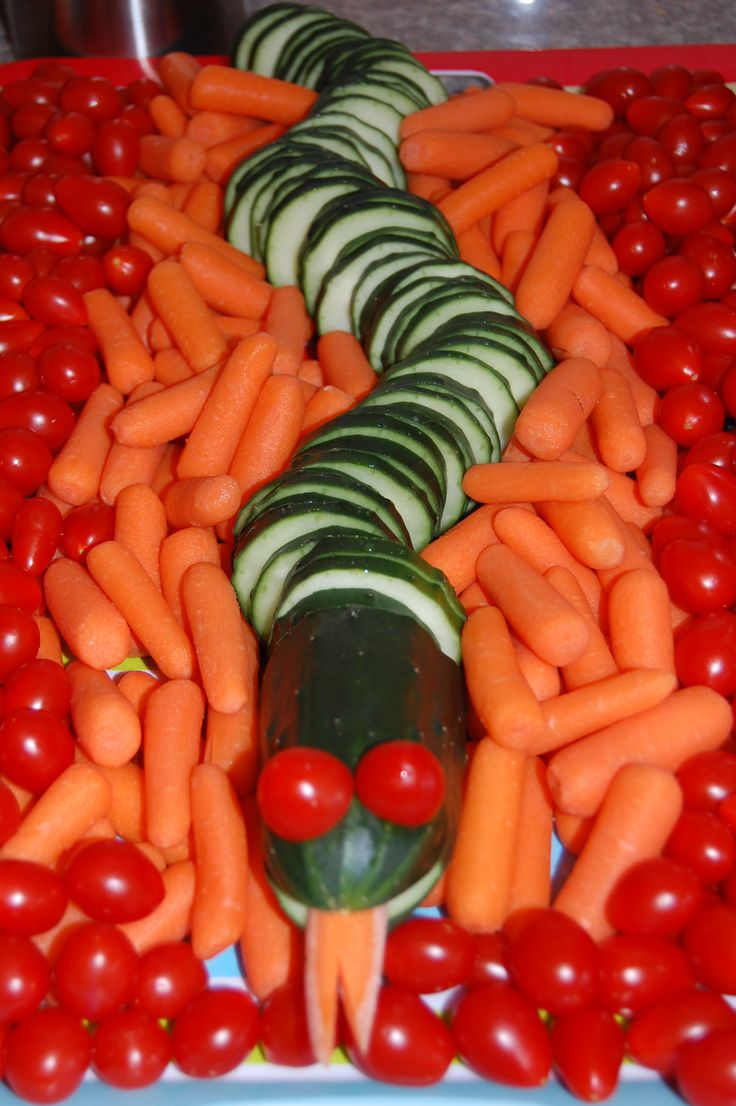 """The Great Devourer"" veggie tray."