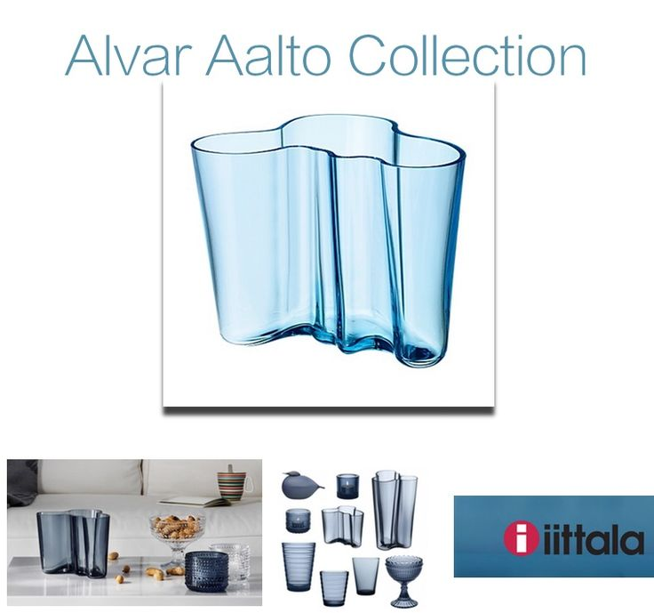 Alvar Aalto #Collection light #blue vase: pure #elegance  in your beautiful #Home. http://bit.ly/1CIfgWi #design #brand #style #furnishing #flowers