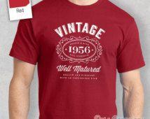 60th Birthday, 1956 Birthday, 60th Birthday Idea, Great 60th Birthday Present, 60th Birthday Gift. 60th Birthday Shirt For an 60 Year Old!