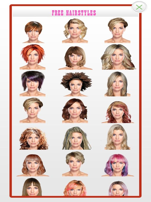 Hairstyles For Your Face Shape On The App Store Hair Styles Face Shapes Hairstyle App