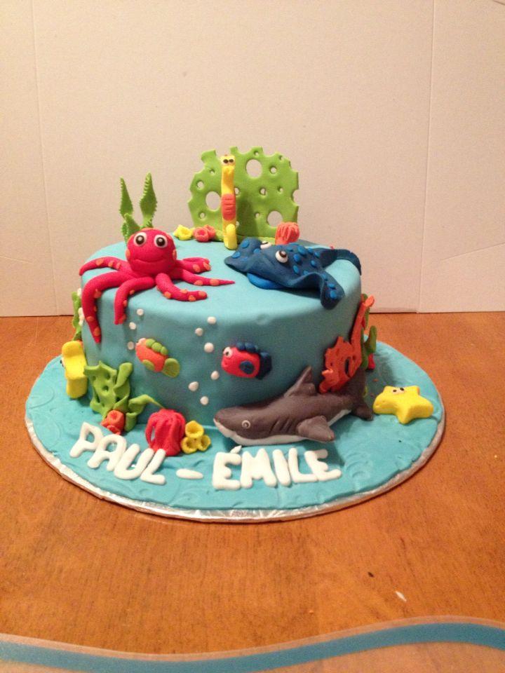 Gâteau fond marin