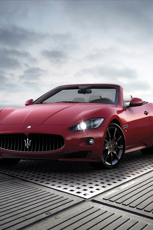 I think the Maserati is the most beautiful car in the world.