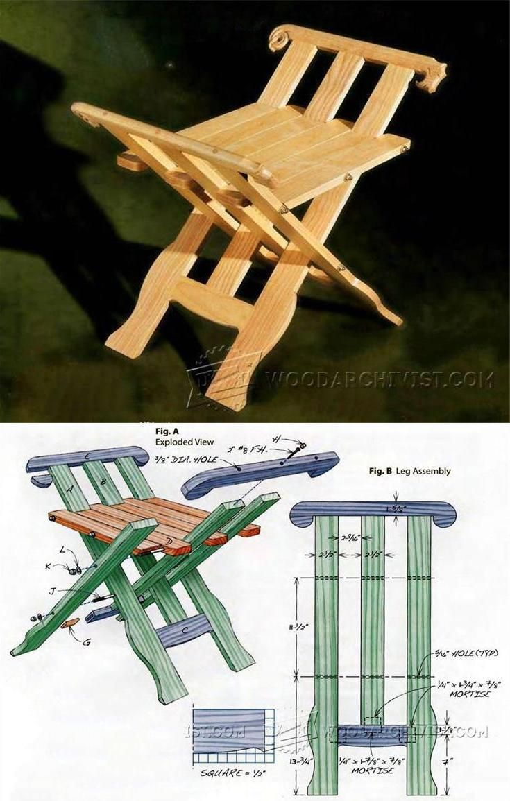 Medieval Folding Stool Plans - Furniture Plans and Projects | WoodArchivist.com