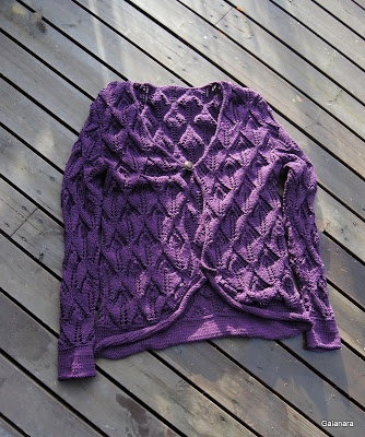 Knitted cotton lace jacket