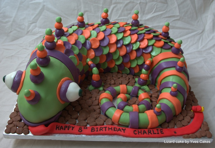 Lizard cake...Gotta make this one for my grandson's Birthday!