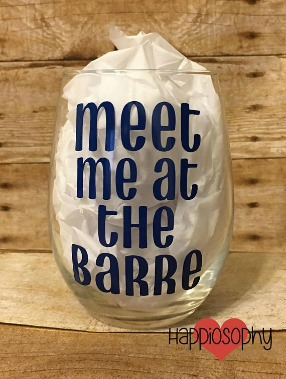 Meet Me At The Barre Wine Glass Dance Teacher Gift Ballet