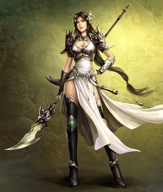 Sexy female samurai art below hot chinese warrior - Fantasy female warrior artwork ...