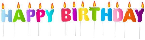 Happy Birthday Candles PNG Clip Art Image