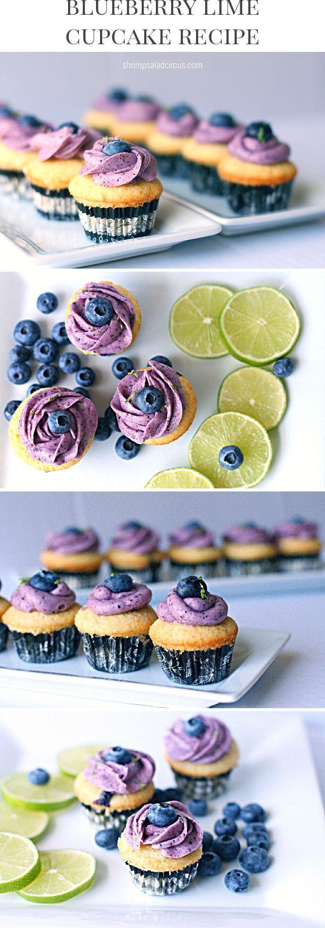 Blueberry Lime Cupcakes Recipe - Shrimp Salad Circus