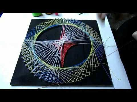2 geometric String Art (tutorial) | String Art DIY | Free patterns and templates to make your own String Art