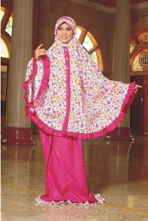 Mukena Butterfly - Bahan katun.Warna ungu, orange dan fanta. $25.00 on Dzakirah boutique