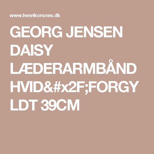 GEORG JENSEN DAISY LÆDERARMBÅND HVID/FORGYLDT 39CM