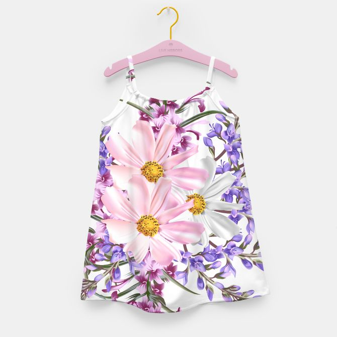 Designers luxury Dress : Vintage flowers Pink