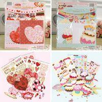 10 carte + buste, carina fai da te compleanno cupcake forme carte/san valentino forme di cuore carte, greeeting fabbricazione della carta kit per i bambini/amante