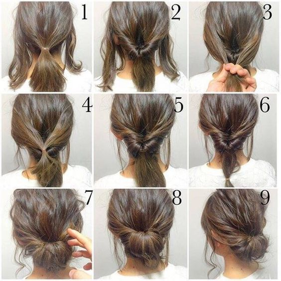 Easy Short Hair Styles Best 25 Short Hair Buns Ideas On Pinterest  Short Hair Updo Easy .
