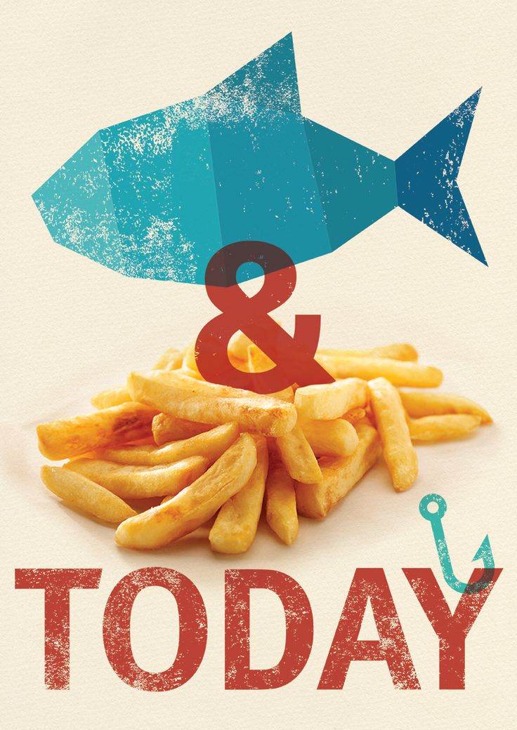 Fish and chips poster for a client. typography graphic design matt carter food illustration