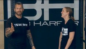 Video of Bob Harper and FBG: Making Taco Wraps and Working Out | fitbottomedgirls.com