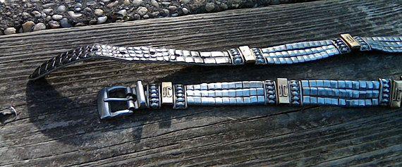 Vintage Cavalli Belt Metal Belt Black Alligator Leather Rare Just Cavalli Belt JC Logo Silver Gold Metal Belt Designer Belts Metallic Belts