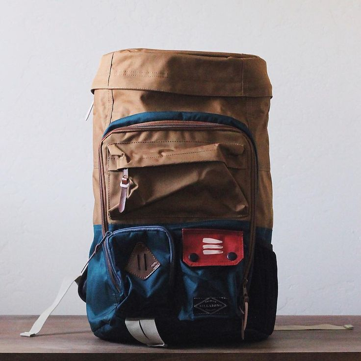 """Billabong - Woman's backpack /// Jessica's 1 bag of choice. She wanted something with exterior pockets so it would make a good """"diaper bag"""" but still look fun and adventurous ;)"""