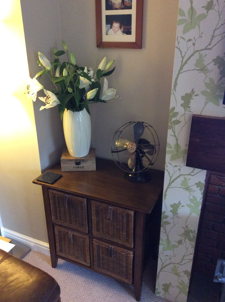 Doesn't the vintage fan look right at home in my home as part of my not for sale collection
