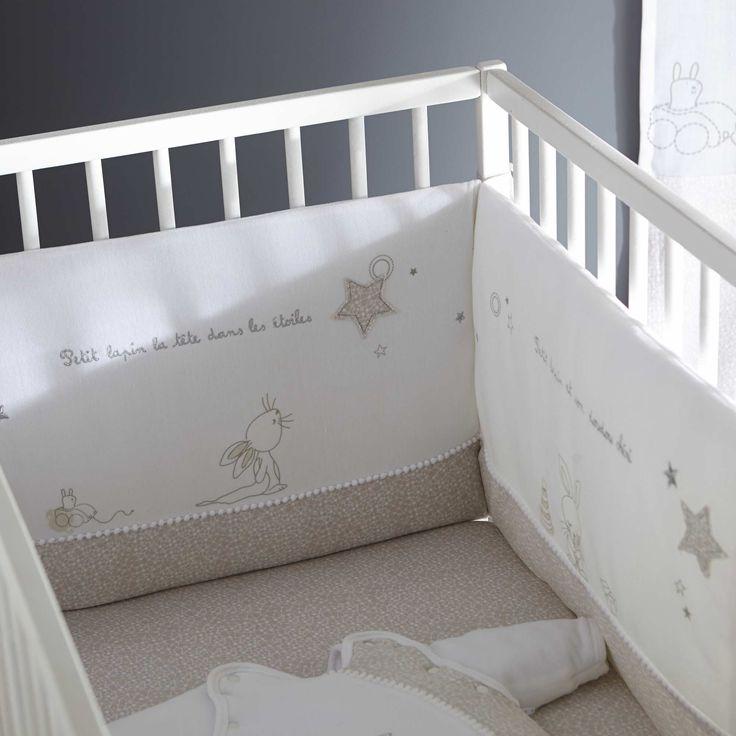 tour de lit velours brod b b fille kiabi 24 99. Black Bedroom Furniture Sets. Home Design Ideas