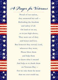 Prayer for Veterans - Veteran's Day personalized card