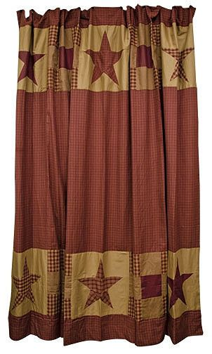 34 Best Images About Primitive Shower Curtain On