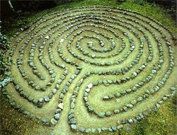 Stone labyrinth, Finland from Labyrinths, by Virginia Westbury
