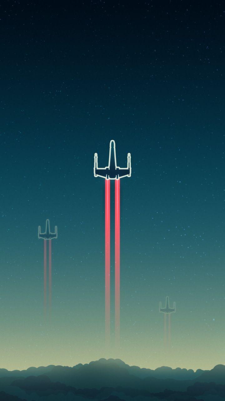 X Wing Spacecraft Aircraft Star Wars Starfighter Video Game Minimal 720x1280 Wallpap Star Wars Wallpaper Star Wars Background Star Wars Wallpaper Iphone