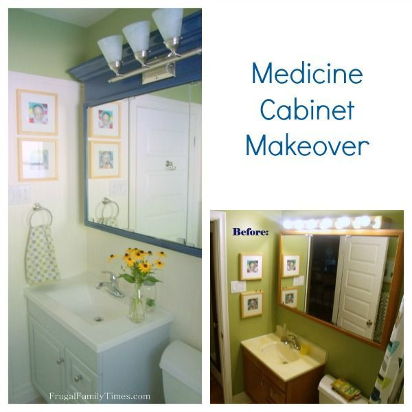 Our Frugal Bathroom Reno: Updating an Old Medicine Cabinet | Frugal Family Times