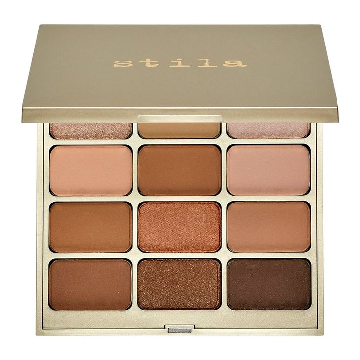 Now back to the medium price point picks — Stila's Nouveau Natural Eye Shadow Palette — a solid go-to for anyone who hearts warm, earthy-brown tones. Plus, the chic gold packaging puts it over the edge — you can't go wrong. Stila Nouveau Natural Eye Shadow Palette, $49. Sephora.com.