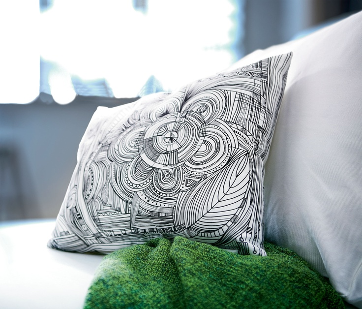 The EIVOR cushion prominently featured on page 23 in the Canadian Ikea catalogue, that they don't have on the Canadian Ikea website.