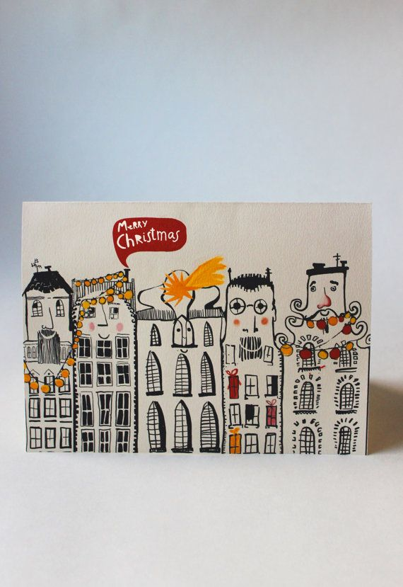 christmas card | christmass card set | illustrated card |